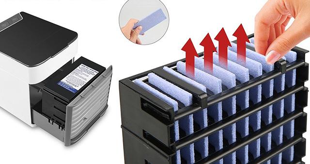 洗濯が可能な防カビフィルターを搭載