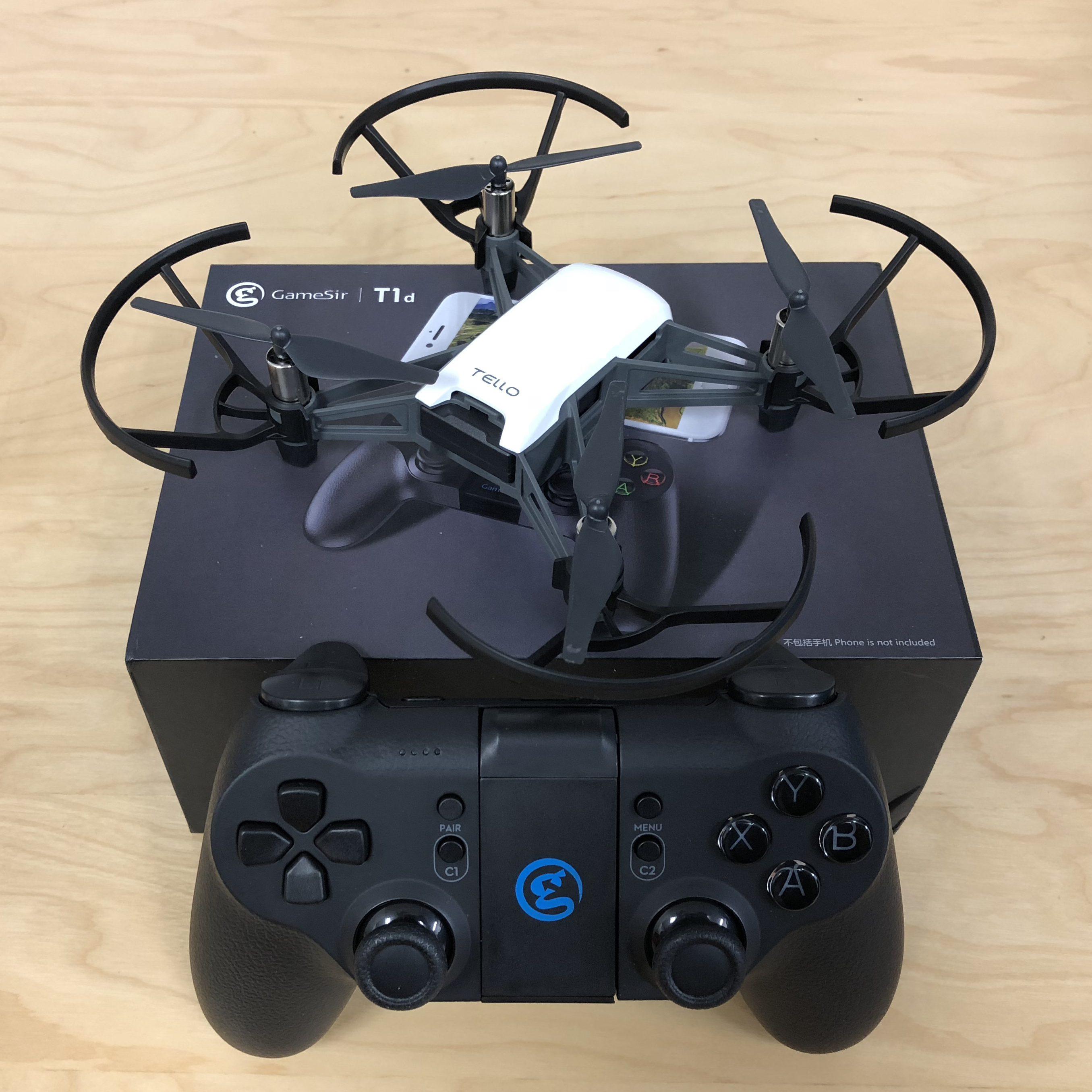 Tello+GameSirコントローラーの接続