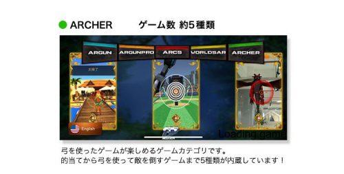 アプリ内容「ARCHER」