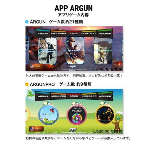 アプリ内容「ARGUN」「ARGUNPRO」