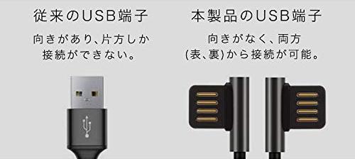 USBの煩わしい「差し込み向き」を気にせず挿せる設計