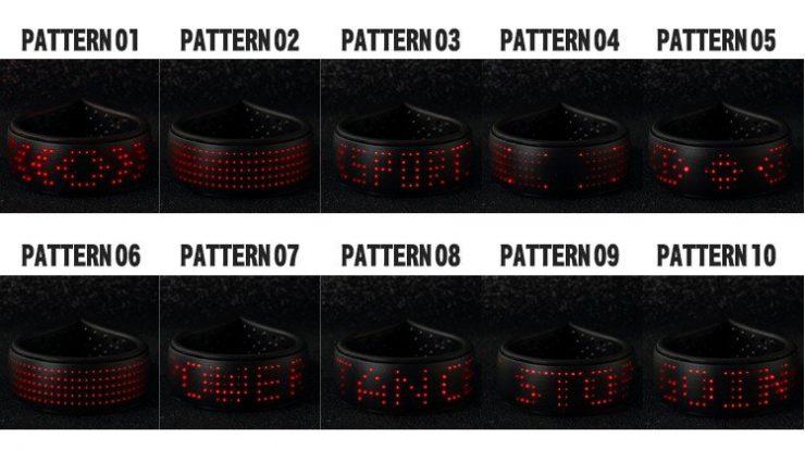 点灯パターンは計10種類!