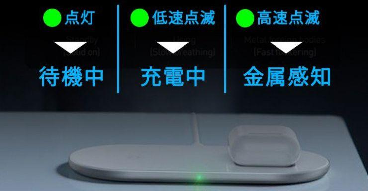 LEDランプで状態が分かりやすい