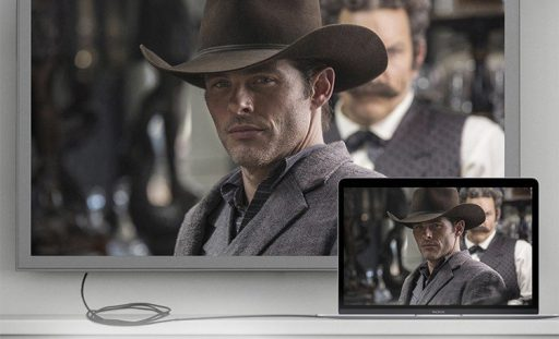 HDMIケーブルで大画面テレビと接続可能